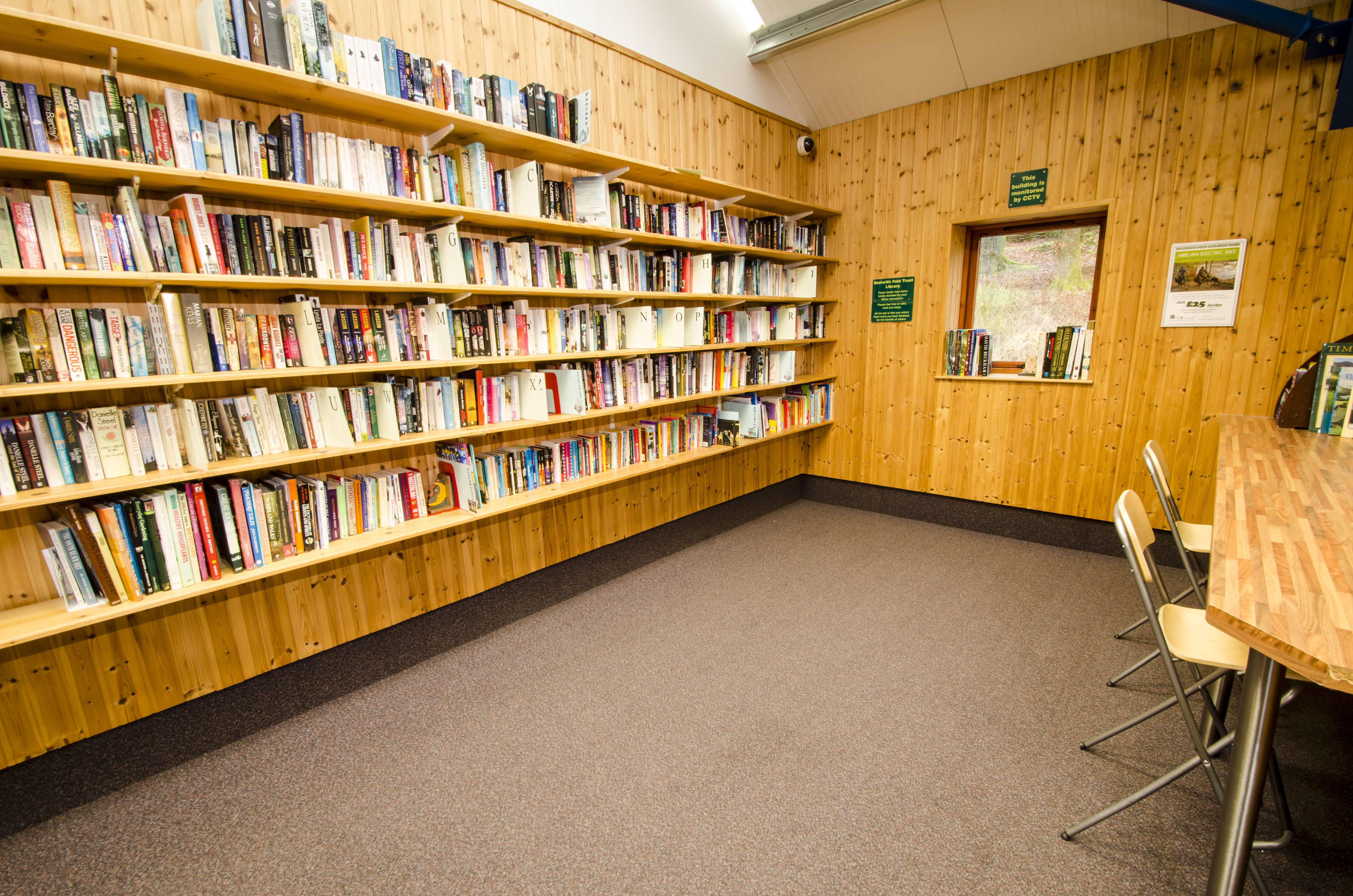 A large selection of books in our trust library