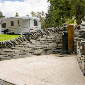 Touring pitches at Skelwith Fold Caravan Park