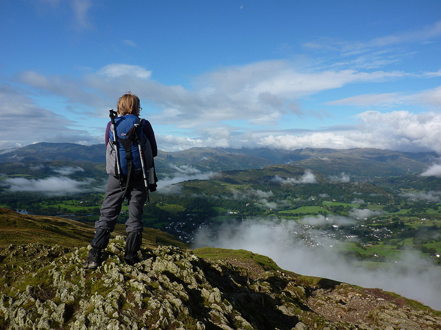 3.Best Lake District Walks – view from Wansfell summit
