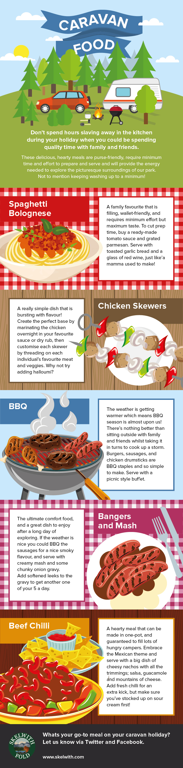 Easy Caravan Food Ideas by Skelwith Fold
