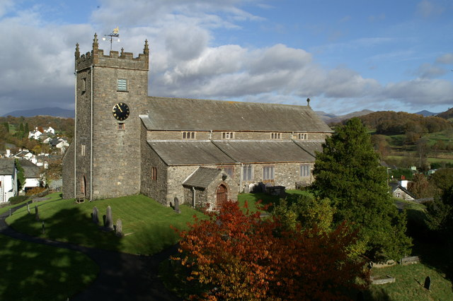 Visit St Michael and All Angels Church in Hawkshead from Skelwith Fold
