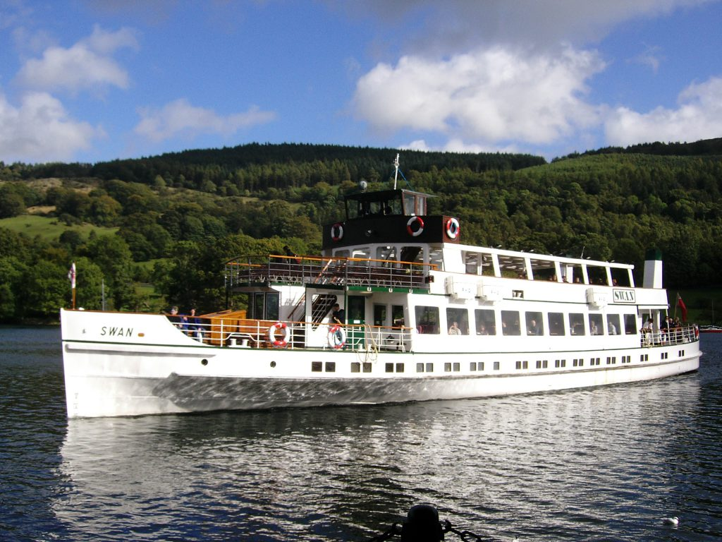 Take a trip on the Swan on Lake Windermere whilst staying at Skelwith Fold