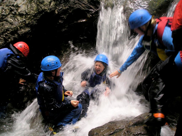 Ghyll Scramble in the Lake District whilst staying at Skelwith Fold Caravan Park