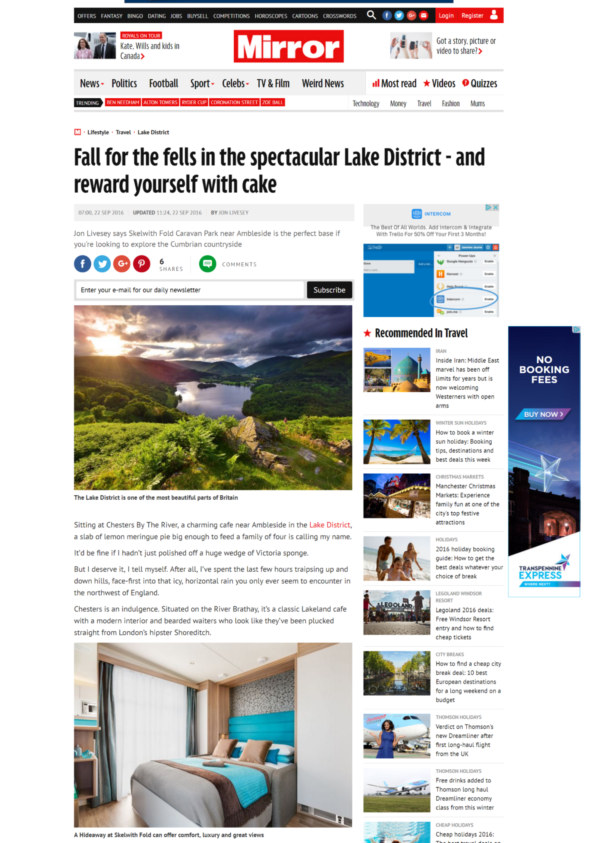 'Fall for the fells' review of Skelwith Fold Caravan Park in the Mirror