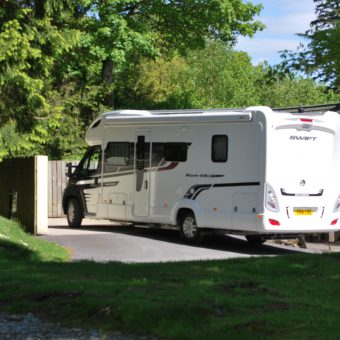 Motorhome waste disposal centre at Skelwith Fold Caravan Park