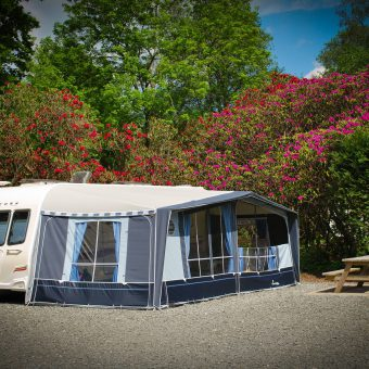 Seasonal touring pitches at Skelwith Fold Caravan Park