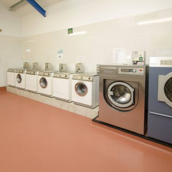 Well equipped laundry with drying room.
