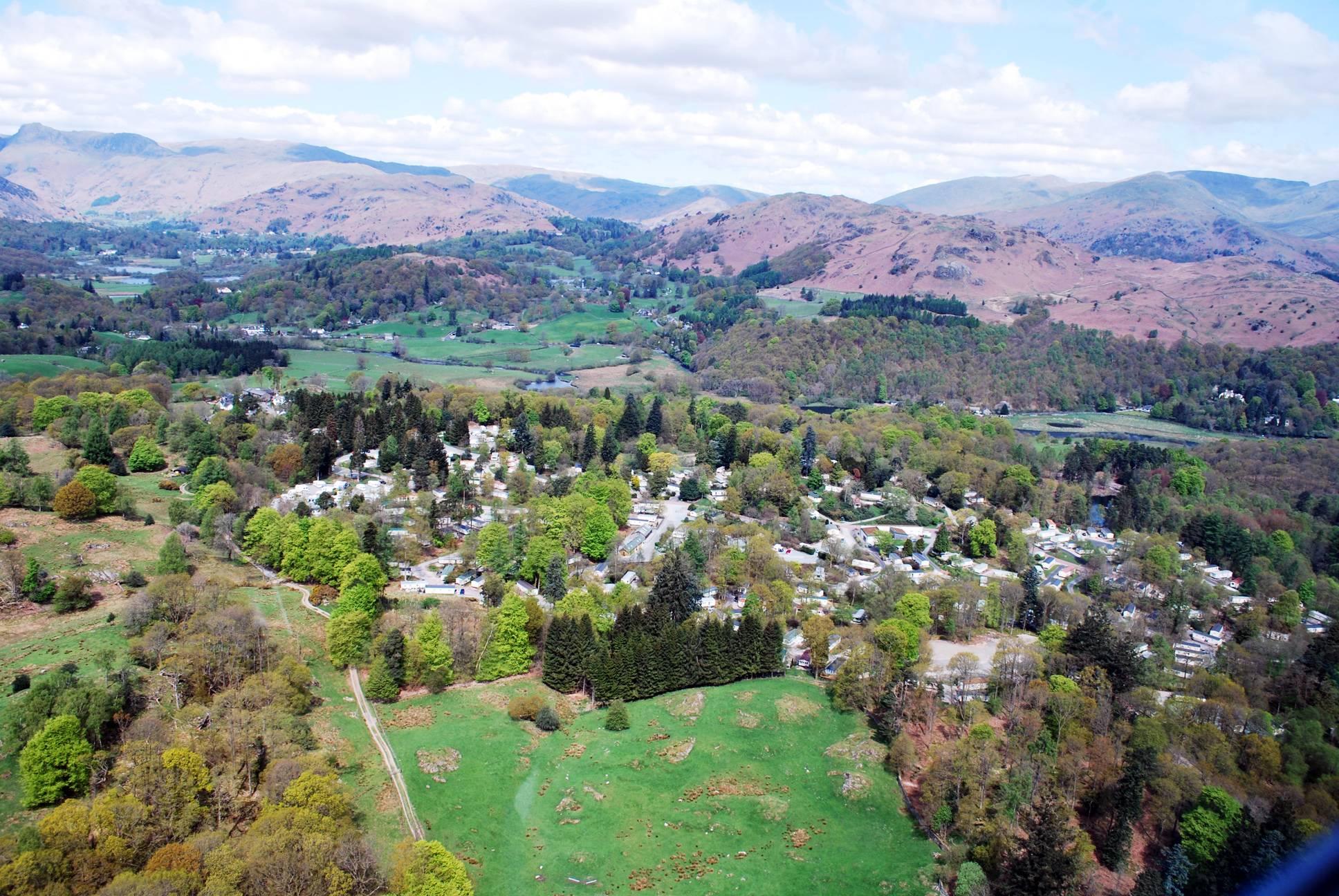 Aerial photo of Skelwith Fold Caravan Park