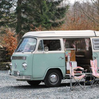 Volkswagen campervan at Skelwith Fold Caravan Park