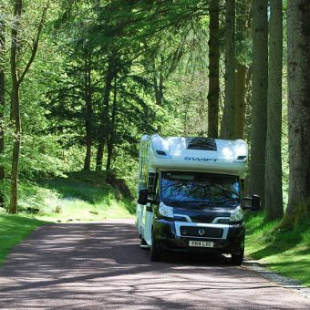 Swift motorhome at Skelwith Fold Caravan Park