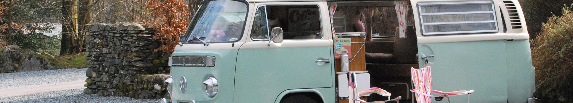 Volkswagen campervan at Skelwith Fold Caravan Park