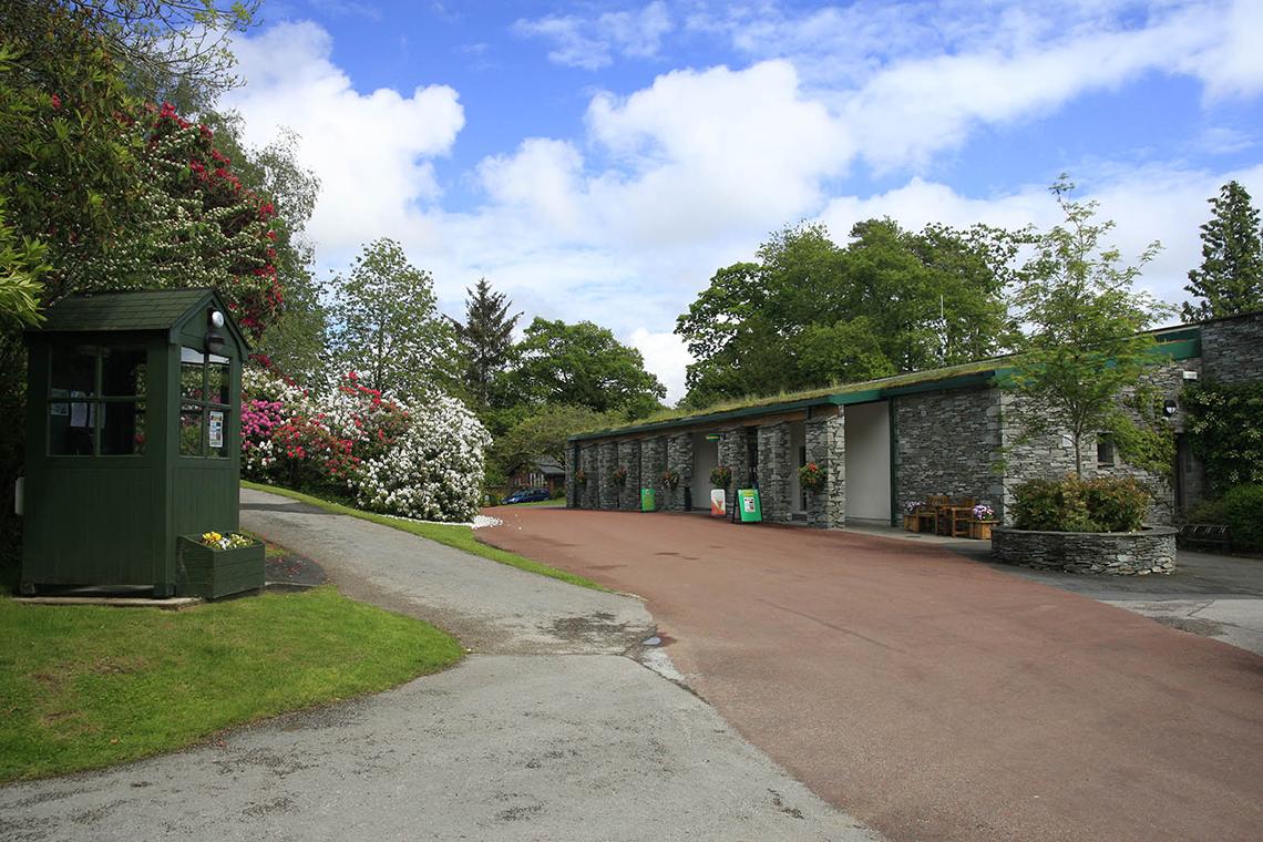 Reception building. Facilities at Skelwith Fold Caravan Park