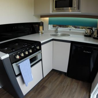 Hideaway Kitchenette at Skelwith Fold Caravan Park in the Lake District