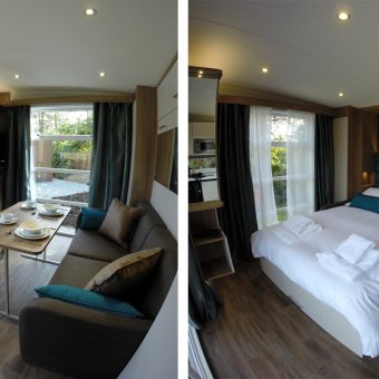 Hideaway sitting area and bedrooms available at Skelwith Fold Caravan Park