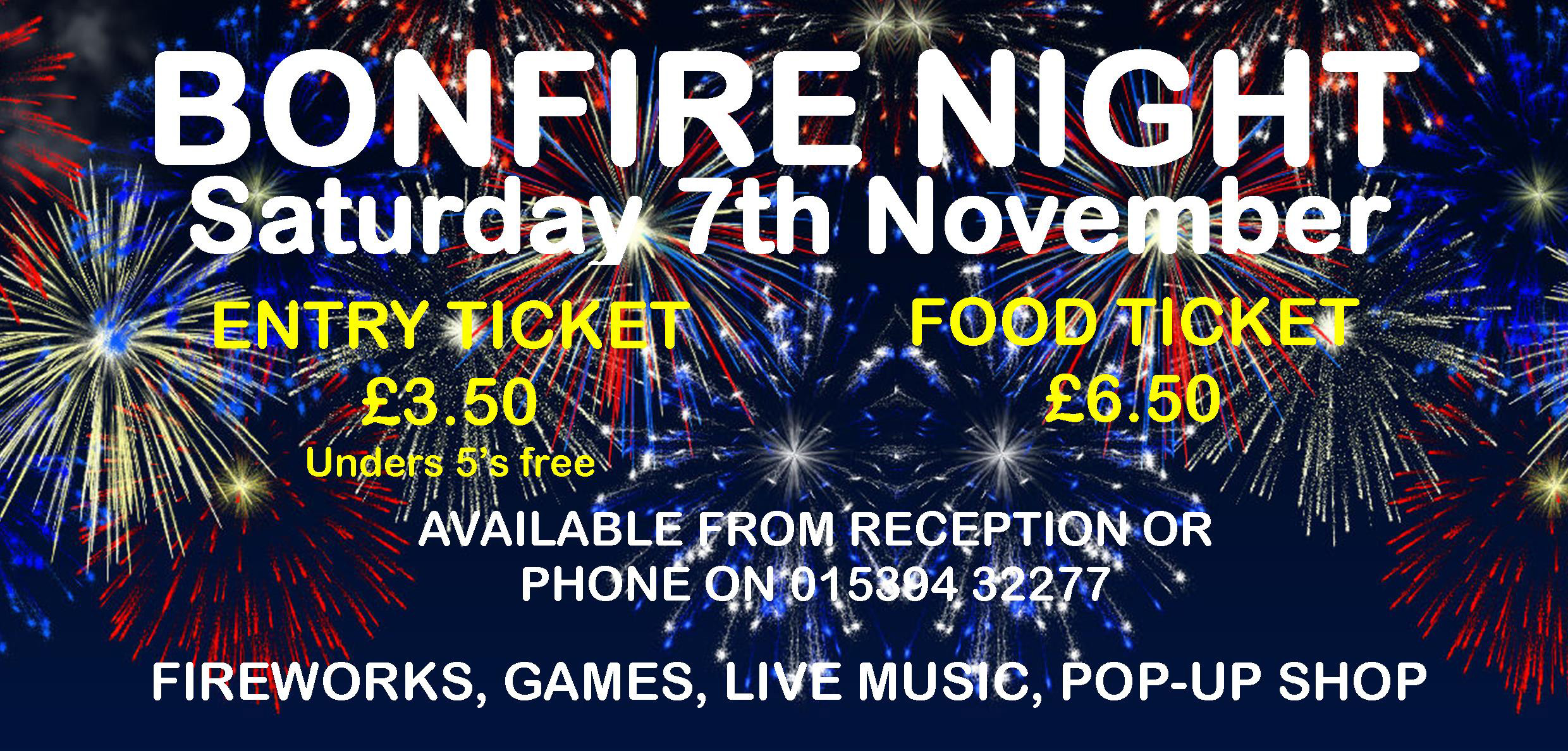 Bonfire and Fireworks at Skelwith Fold Caravan Park in the Lake District