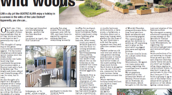 Review of Skelwith Fold Caravan Park in the Oldham Chronicle