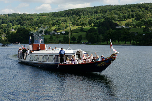 Enjoy a steam boat ride along Coniston waters whilst staying at Skelwith Fold