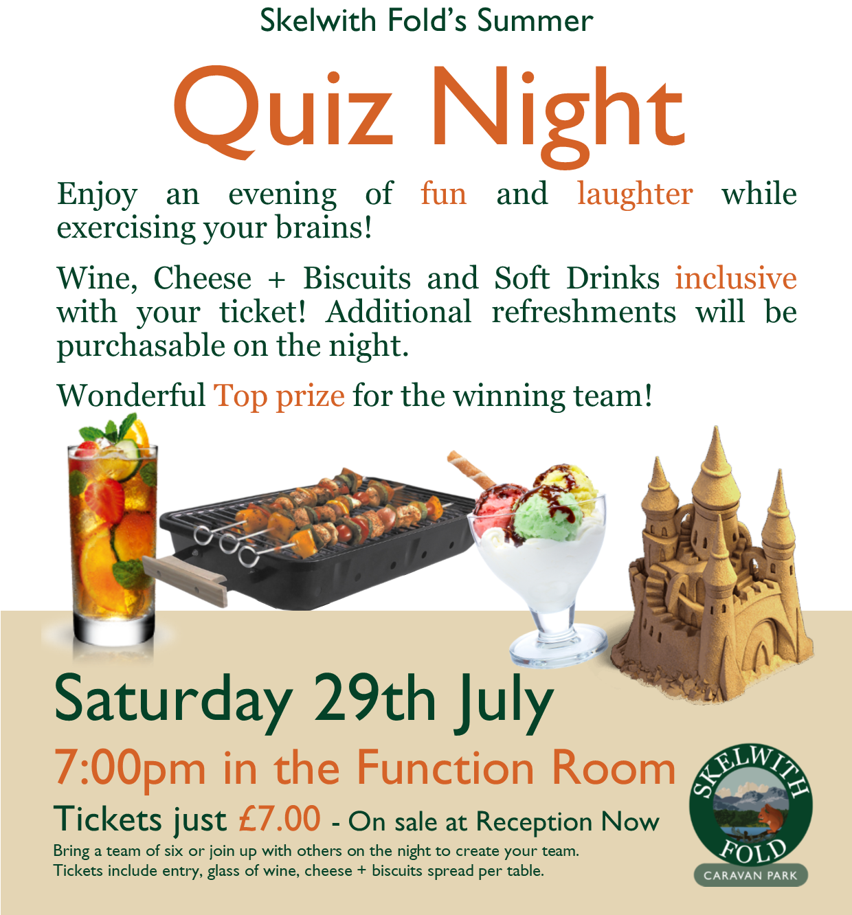 Skelwith Fold's Summer Quiz Night 2017