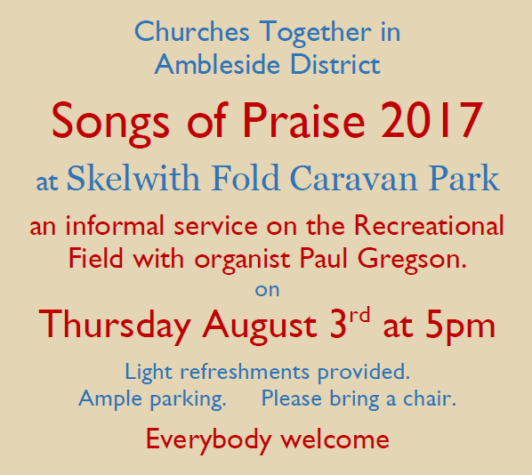 Songs of Praise 2017 at Skelwith Fold Caravan Park