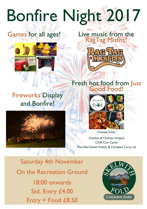 Skelwith Fold's Bonfire Night 2017 Poster