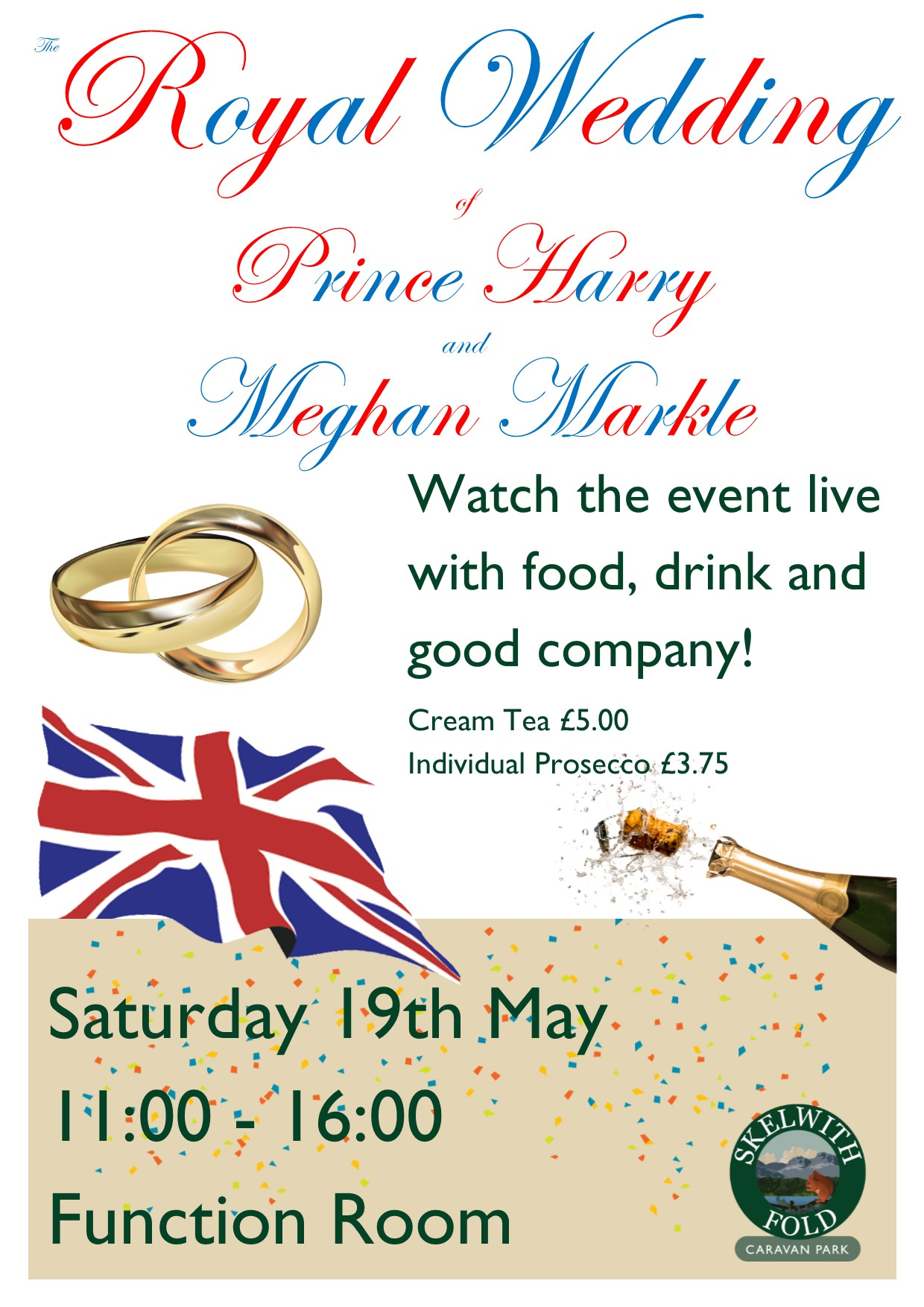 Watch the Royal Wedding at Skelwith Fold Caravan Park