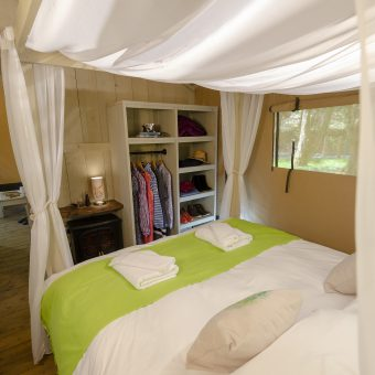 Safari Tent Glamping Pod Bedroom at Skelwith Fold