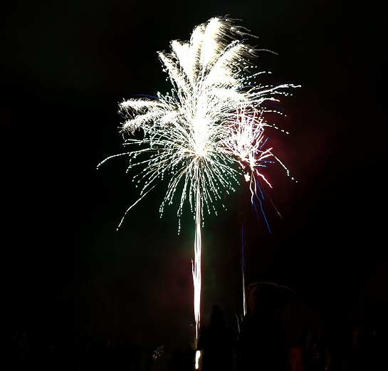 Fireworks at a bonfire night party