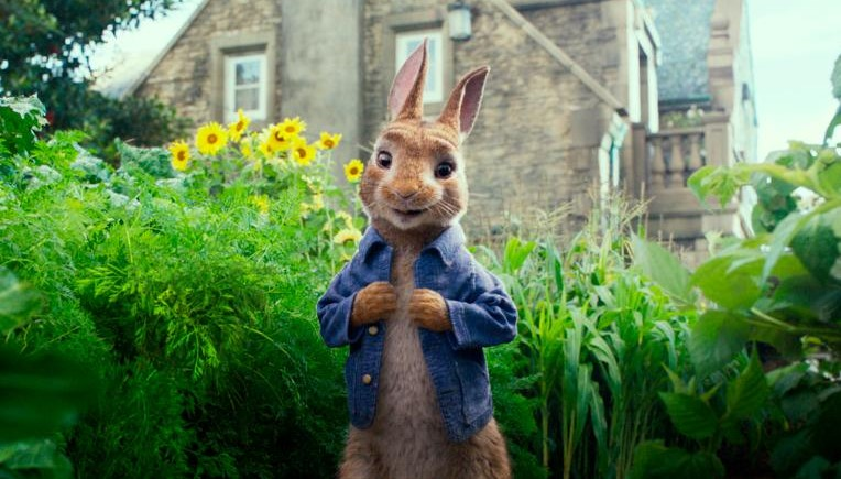 Peter Rabbit being shown at a film night
