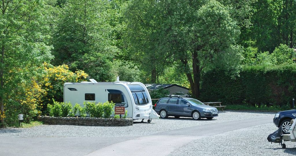 Caravan site Lake District. Touring Caravan at Skelwith Fold Caravan Park