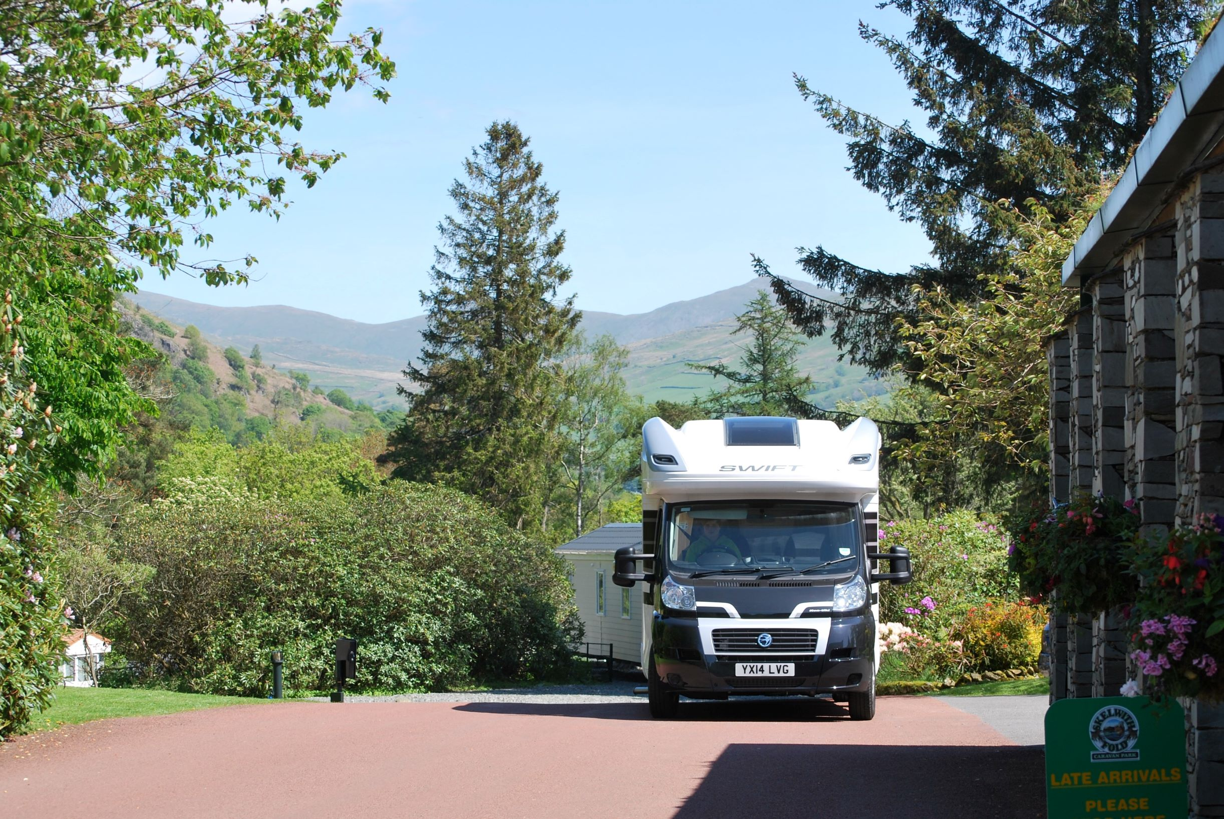 Motorhome Arrival at Skewlith Fold Lake District